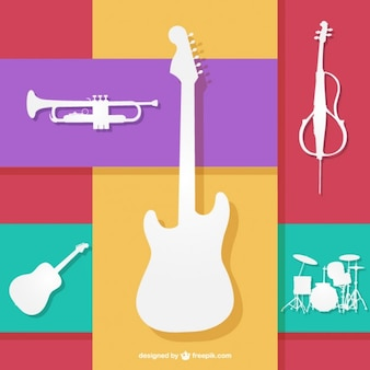 Colorfull musical instruments vector