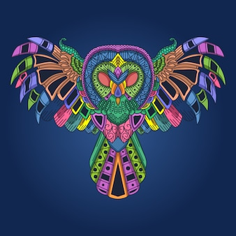 Colorfull owl