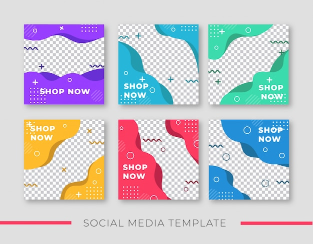 Colorfull sale banner for social media post template