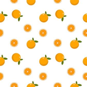 Красочный бесшовный фруктовый апельсин