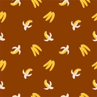 Красочные бесшовные фрукты банан