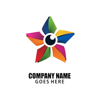 Colorfull star logo design simply elegant and luxury