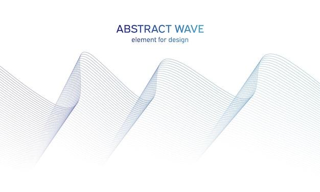 デザインのためのカラフルな様式化された波要素