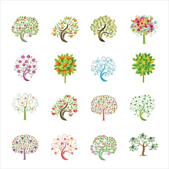 Colorfull tree vector element