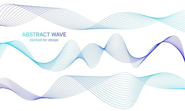 Colorfull wave element   set