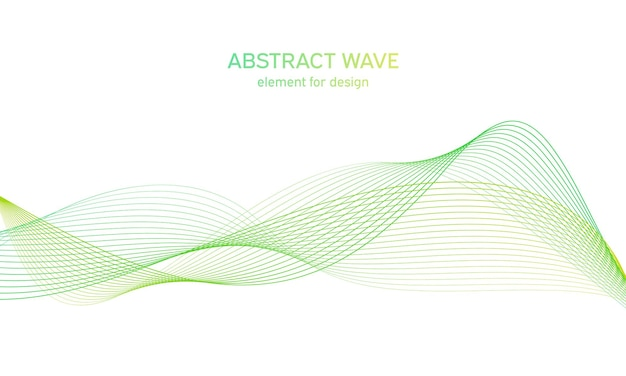 Colorfull wave element