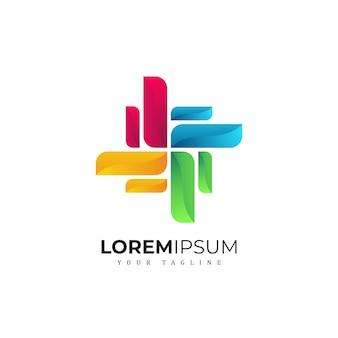 Colorfull абстрактный дизайн логотипа