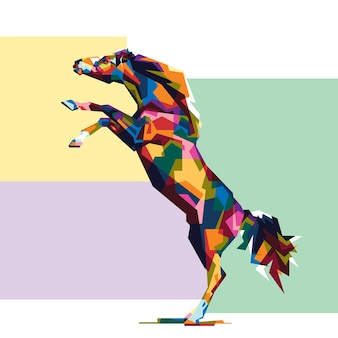 Colorfully horse