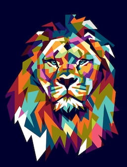 Colorfully lion