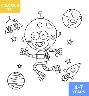 Coloring book alien