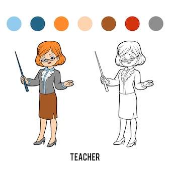 Coloring book for children, teacher