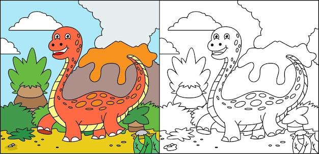 子供のための塗り絵の恐竜