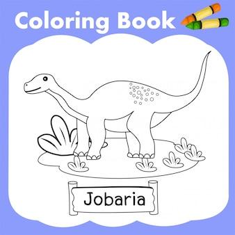 Coloring book dinosaur jobaria