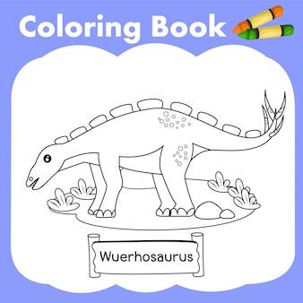 Coloring book dinosaur wuerhosaurus