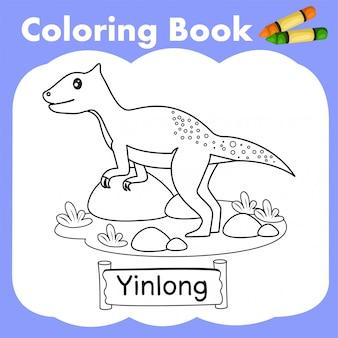 Coloring book dinosaur yinlong