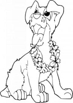 Coloring book dog - ilio