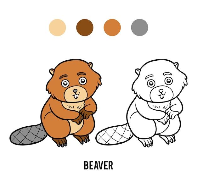 아이들을 위한 색칠하기 책, 비버
