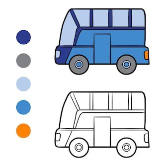 어린이 색칠 공부, 버스