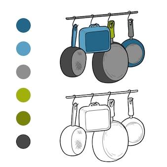 어린이용 색칠공부, 주방용품