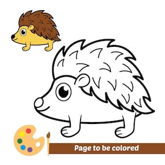 아이들을 위한 색칠하기 책, 고슴도치 벡터