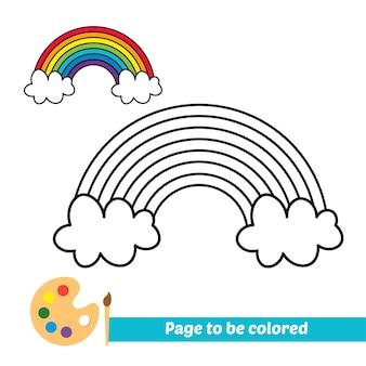 子供のための塗り絵虹ベクトル