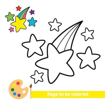 Книжка-раскраска для детей, звезды вектор
