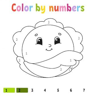 Раскрась по номерам. книжка-раскраска для детей. веселый ...