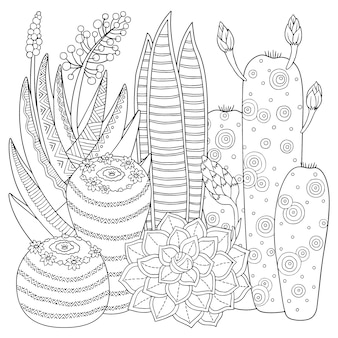 Coloring book illustration