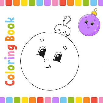 Coloring book for kids. cheerful character. vector illustration. cute cartoon style.