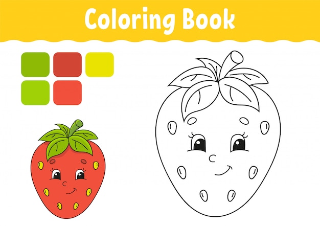 - Premium Vector Coloring Book For Kids. Cheerful Character.