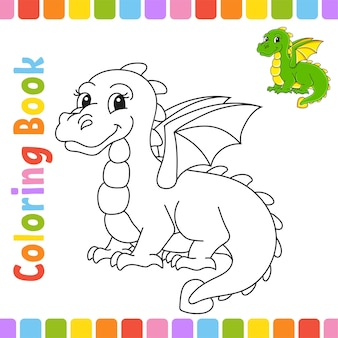 Coloring book for kids cheerful character