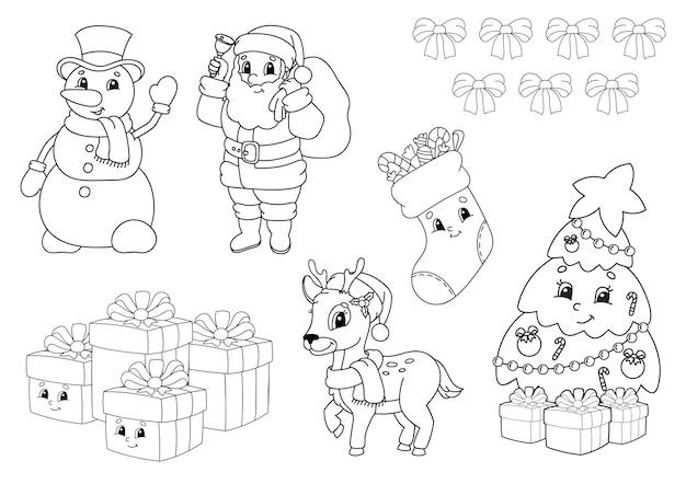 Coloring book for kids christmas theme
