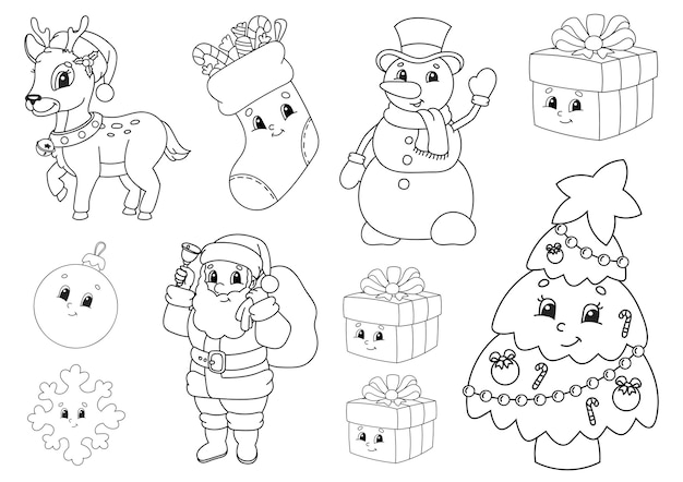 Coloring book for kids illustration