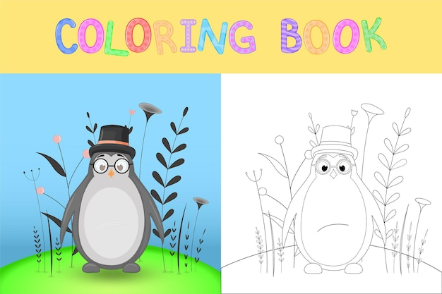 Coloring book or page for children of school and preschool age.