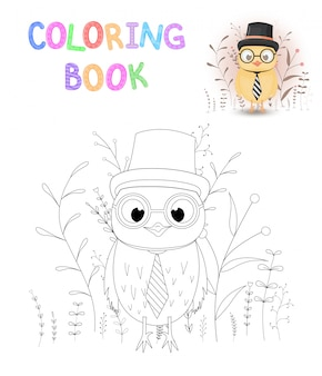 Coloring book or page for children of school