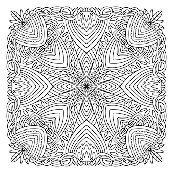 Coloring book page print