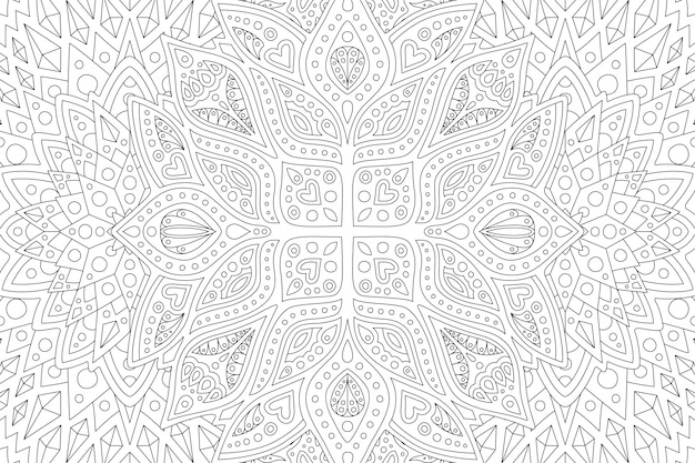Coloring book page withabstract linear