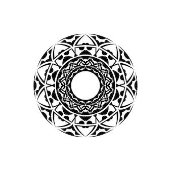 Раскраски для детей и взрослых. ручной обращается абстрактный дизайн. декоративная индийская круглая кружевная богато украшенная мандала. конструкция рамы или пластины