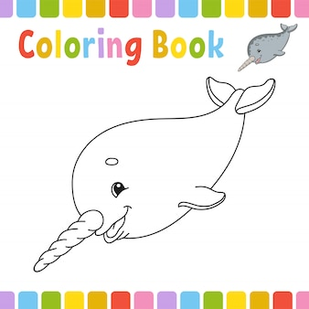 Coloring book pages for kids. cute cartoon  illustration.
