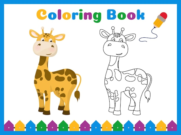 Coloring book for preschool kids with easy educational gaming level.