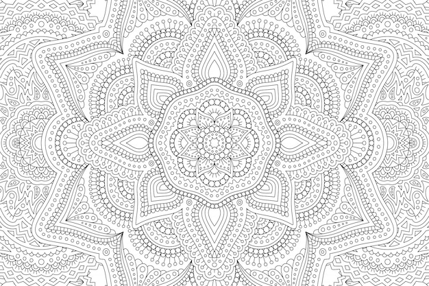Coloring book with abstract pattern
