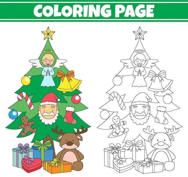 クリスマスツリーの着色