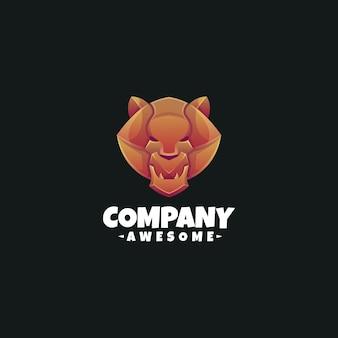 Coloring lion logo