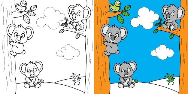 어린이 어린이 활동을위한 색칠 페이지 두뇌 게임