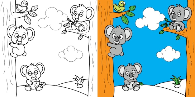 Coloring page brain games for kids children activity