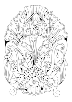 Coloring page for children and adults