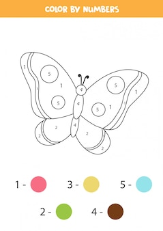Coloring page for children. cute black and white butterfly. Premium Vector