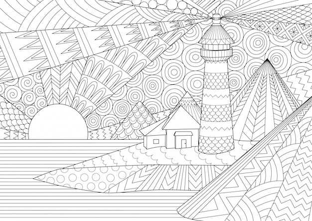 Coloring page. coloring book for adults.