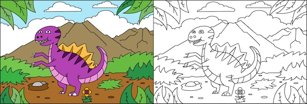 Coloring page dinosaurs for kids