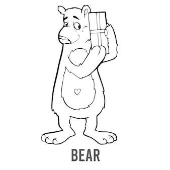 미취학 아동을 위한 색칠 공부 페이지는 유치원과 학교 교육 게임을 위한 숫자를 배웁니다.